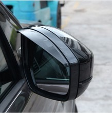 Side Rearview mirror 3D Rain Eyebrow Trim For Land Rover Discovery Sport For Range Rover Evoque Velar 2014-17 Car Accessory for land rover rand rover evoque car styling luxury interior accessory dark wood grain interior rearview mirror frame trim 1pc