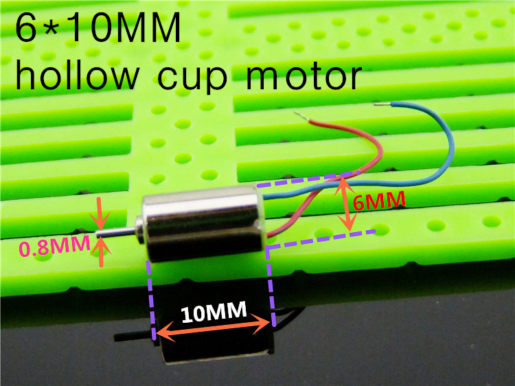 1PCS 6*10 MM hollow cup <font><b>motor</b></font> model aircraft helicopter parts technology making toys <font><b>610</b></font> <font><b>Motor</b></font> image