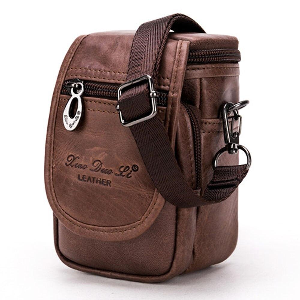 Genuine Leather Cowhide Men Waist Pack Shoulder Crossbody Bag fashion Belt Waist Fanny Pack Phone Cigarette Case Bag wallet