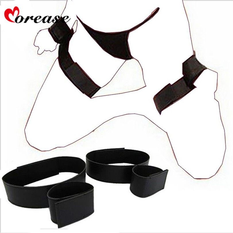 Morease Handcuff Wrist & Ankle Cuffs Kit Soft Sex Toy Adjustable Fetish brinquedos Bondage Erotic Bdsm Adult Games For Couples 10kg adjustable ankle wrist weights