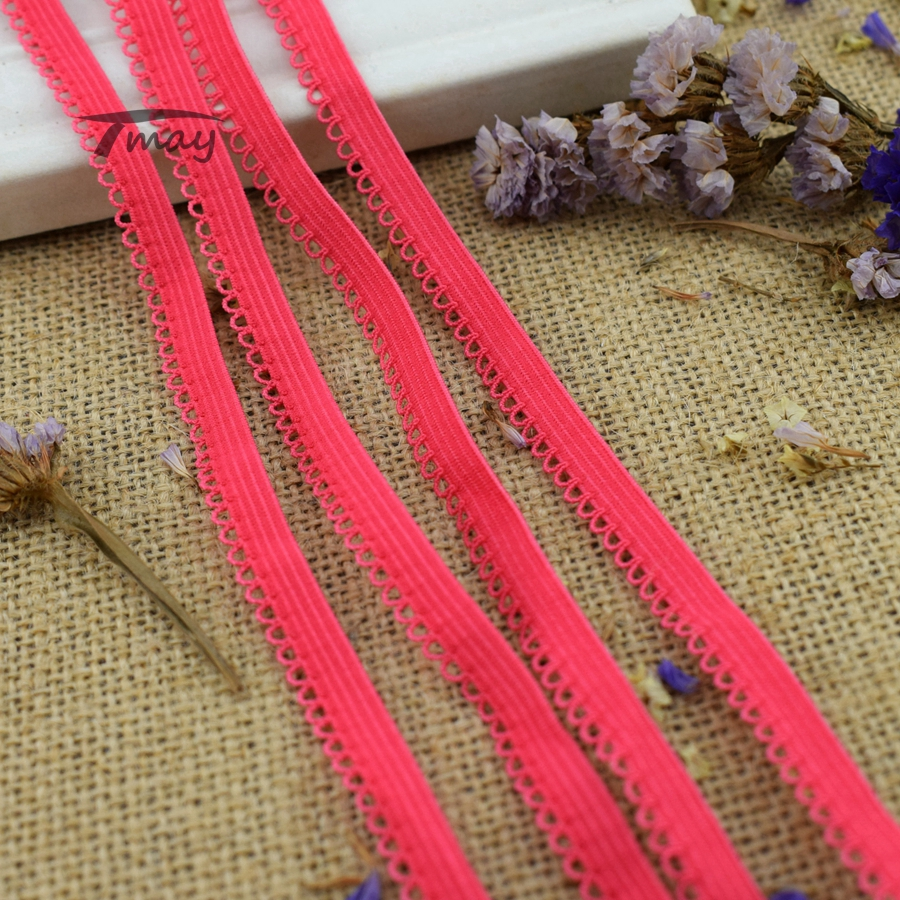 #265 EXPORT TOP QUALITY! Bright Color Elastic bands lace Trim 8yards/lot Stretch Flat Sewing DIY Lingerie Bra Pants Accessory