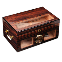 Cuban cigar box moisturizing function cabinet wooden double large capacity box