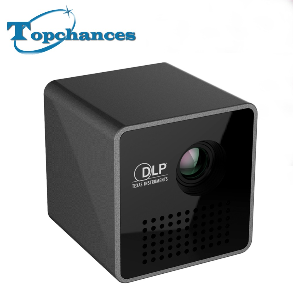 Haute Qualité Portable P1 WIFI Sans Fil Projecteur De Poche LPD HD Vidéo Pico Batterie Intégrée Audio Splitter