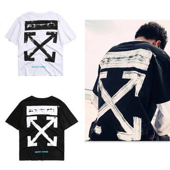 T-Shirt Off-White Hip Hop Style