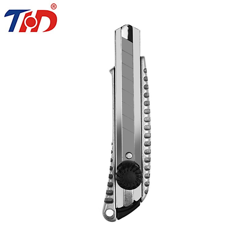 THD 1PC High Quality Zinc Alloy Stationery Knife Auto-lock Paper Model Cutter Razor Blades Knife School Chancery Utility Knife 1pc hot sale 100%quality guaranteed doner kebab slicer two blades electrical kebab knife kebab shawarma gyros cutter