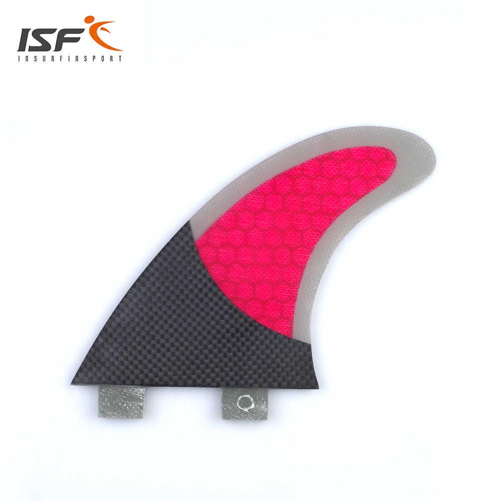 Populer Innegra Papan Selancar Sirip Set (3) Surf Fin FCS Kompatibel Medium Disesuaikan MERAH