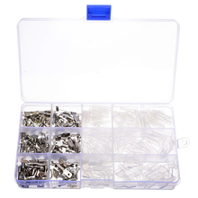 цена на 270pcs Electrical Terminals Connector Male & Female Crimp Spade Terminals Connectors Sleeve Wire Insulated Kit 2.8/4.8/6.3mm