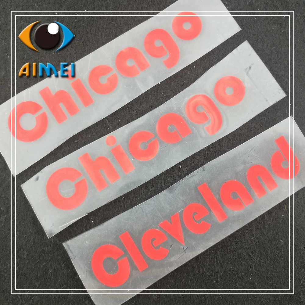 Custom Garment Rubber Labels With Thermal Transfer On T-shirt Washable Label Custom Heat Transfer Silicone Clothing Tags DIY
