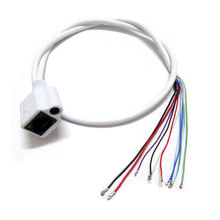 10pcs CCTV IP network Camera PCB Module video power cable 60cm long RJ45 female & DC male connectors with Terminals