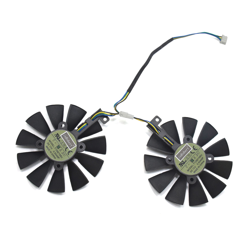 88mm FDC10U12D9 C T129215BU GTX1070 RX480 RX570 VGA Fan Replace for ASUS 1066 EX GTX1070 O8G DUAL RX480 O4G EX RX570 O4G Card|Fans & Cooling|   - AliExpress