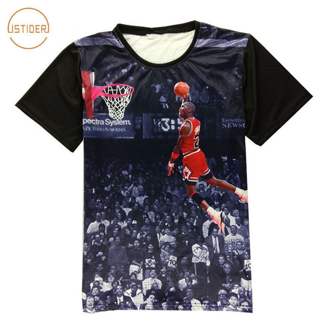 dc6637261851 Fashion 3D Clothing Digital Printing All Star Michael Jordan T Shirt HD  Jordan Dunk Pattern Hip