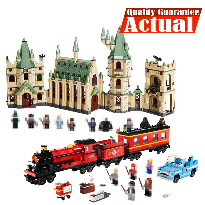 LEPIN 16029 Hogwarts Castle 16030 16031 Train Movie Building Block Bricks Toys oyuncak 1033PCS Compatible legoINGly 5378 4842 hot mobile game movie angried king pig castle building block crazy birds minifigures bricks compatible legoes 75826 toys for kid