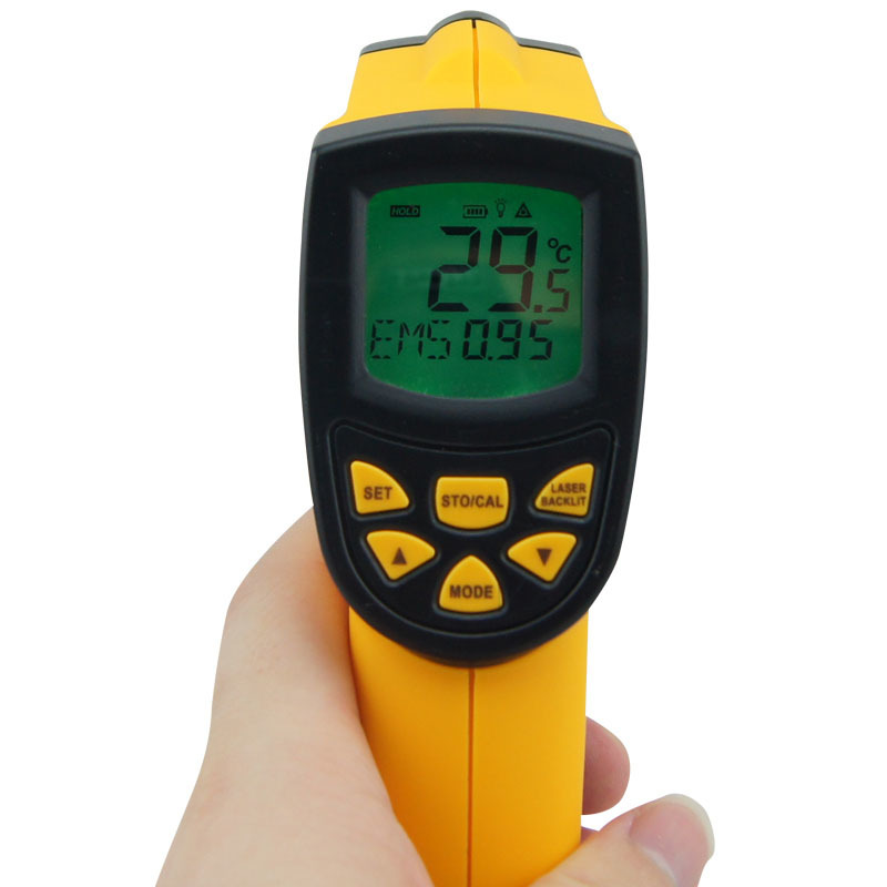AR852B Brand New digital Infrared thermometer -50~700C(-58-1292F) IR non-contact infrared thermometer temperature measuring brand new b c b c cup