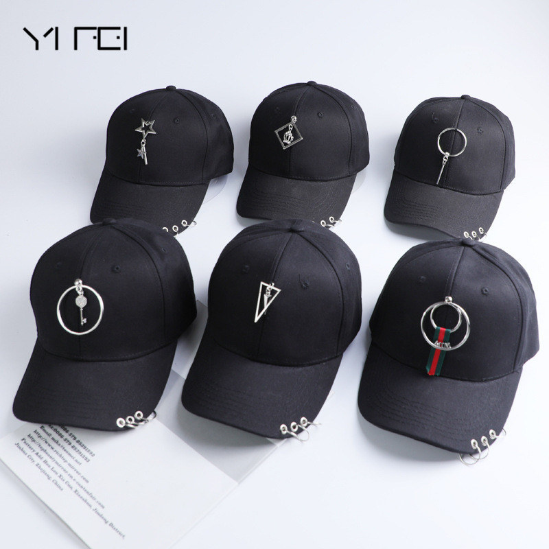 New Woman Cotton Iron Hoop Flower Pentagram   Baseball     Cap   Outdoor Leisure Travel Sun-proof Hat Unisex Adjustable Solid   Cap