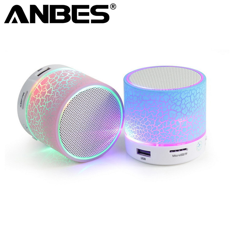 Mini Bluetooth Speaker Wireless Smart LED Bluetooth Music Speaker Audio TF Cart Slot FM Stereo Sound Luminous Speaker for Phone khf301 mini golf ball shape bluetooth v3 0 music speaker deep pink white