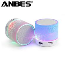 Mini Bluetooth Speaker Wireless Smart LED Bluetooth Music Speaker Audio TF Cart Slot FM Stereo Sound Luminous Speaker for Phone