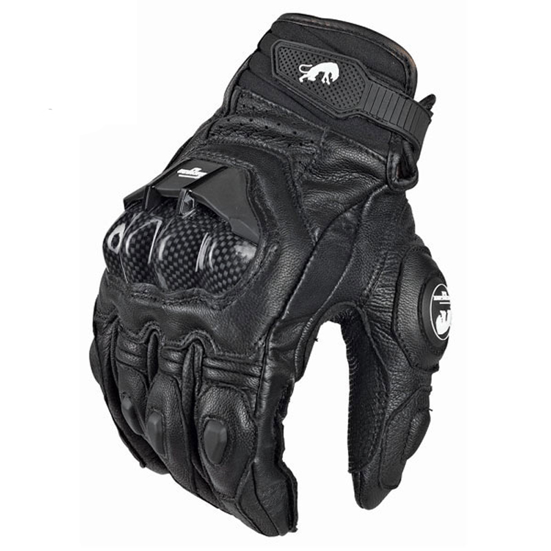 Gloves Racing-Bike Motorcycle Gp Pro Supertech Black/white Knight Cowhide Mens