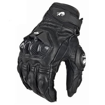 Męskie GP Pro Supertech czarne białe skórzane rękawice motocyklowe rękawice rajdowe motocykl skóra bydlęca rower wyścigowy rycerz tanie i dobre opinie Unisex Oddychająca Gloves