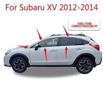 Tiras de aço inoxidável Janela Da Guarnição Decoração Do Carro Acessórios Do Carro de alta qualidade styling 12 pcs Para Subaru XV 2012 2013 2014