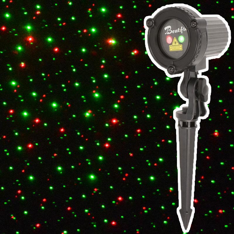 Laser Light Christmas Tree: Outdoor Christmas Star Lights Laser Projector Showers