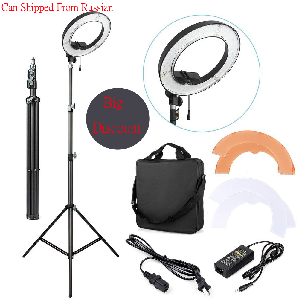 ES180 36W 5500K 180 LED Photographic Lighting Dimmable Camera Photo Studio Phone Video Photography Ring Light