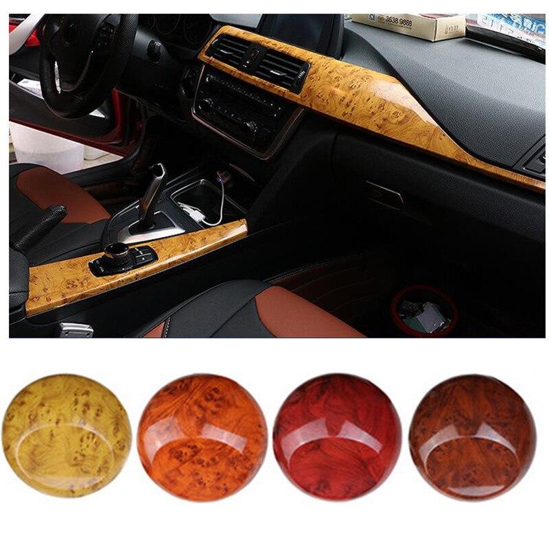 30cm x 200cm Glossy Wood Grain PVC Vinyl Film Car Sticker Interior Decals Auto Motocyle Laptop Textured Sticker Car styling