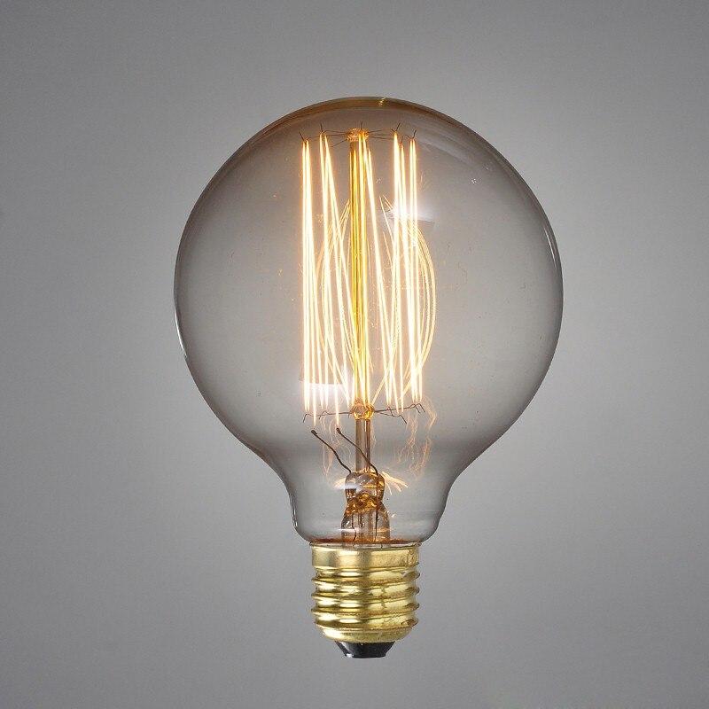 Edison Light Bulbs Tungsten Lamp Vintage E27 Bulb Personalized Home Decoration Incandescent Bulb Antique Lighting G95/G125 40W blouse