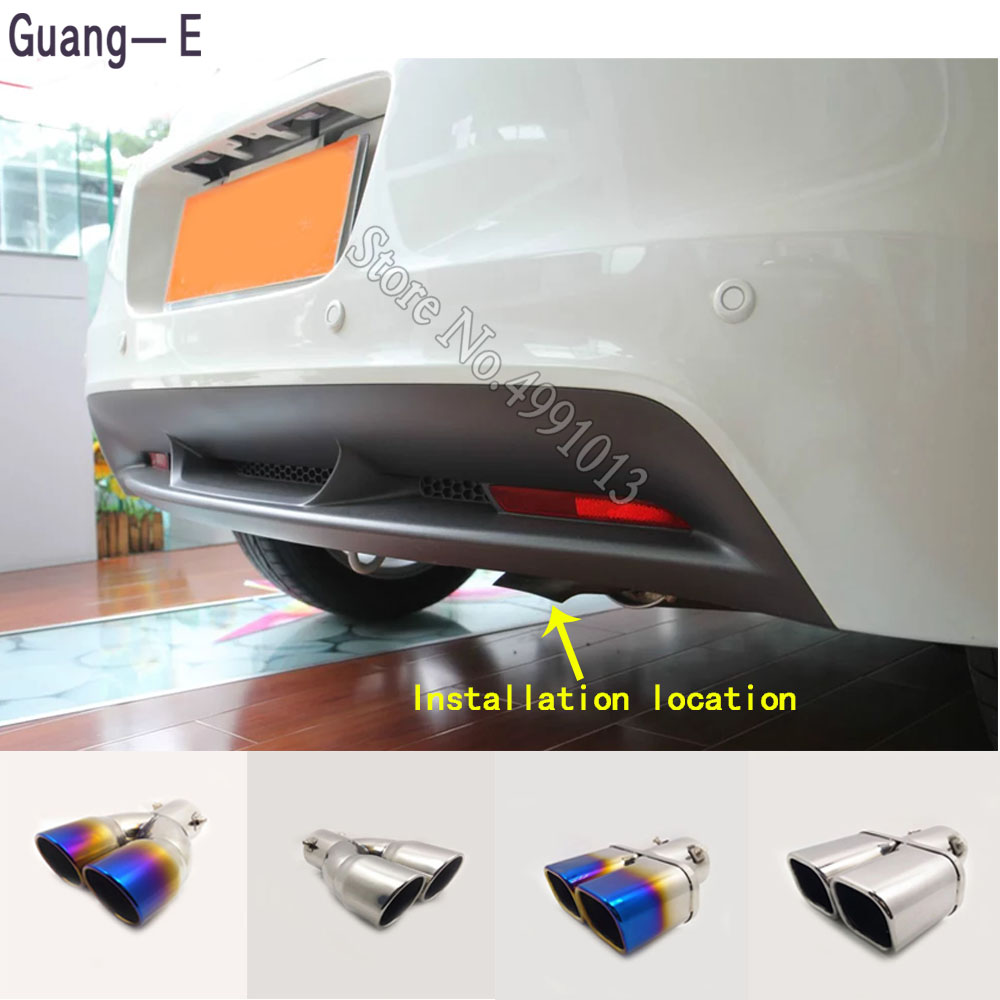 For Honda CRZ CR-Z 2012-2018 Car Stickers Cover Muffler Exterior Back End Pipe Dedicate Exhaust Tip Tail Outlet Ornament 1pcs