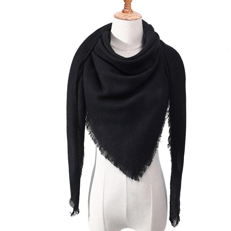 Бандана палантин платок на шею шарф зимний Дизайнер трикотажные весна-зима женщины шарф плед теплые кашемировые шарфы платки люксовый бренд шеи бандана пашмина леди обернуть - Цвет: c17