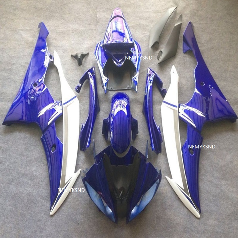 Blue white Injection mold <font><b>Fairing</b></font> kit for YAMAHA YZFR6 08 09 10 12 14 <font><b>YZF</b></font> <font><b>R6</b></font> YZF600 <font><b>2008</b></font> 2010 2014 <font><b>Fairings</b></font> <font><b>set</b></font> image