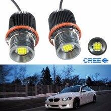 Pair Car Styling 80W 6000k LED Angle Eyes Halo Xenon Marker Ring Light Bulb Canbus For BMW E39 E53 E60 E61 E63 E64 E65 E66 X5