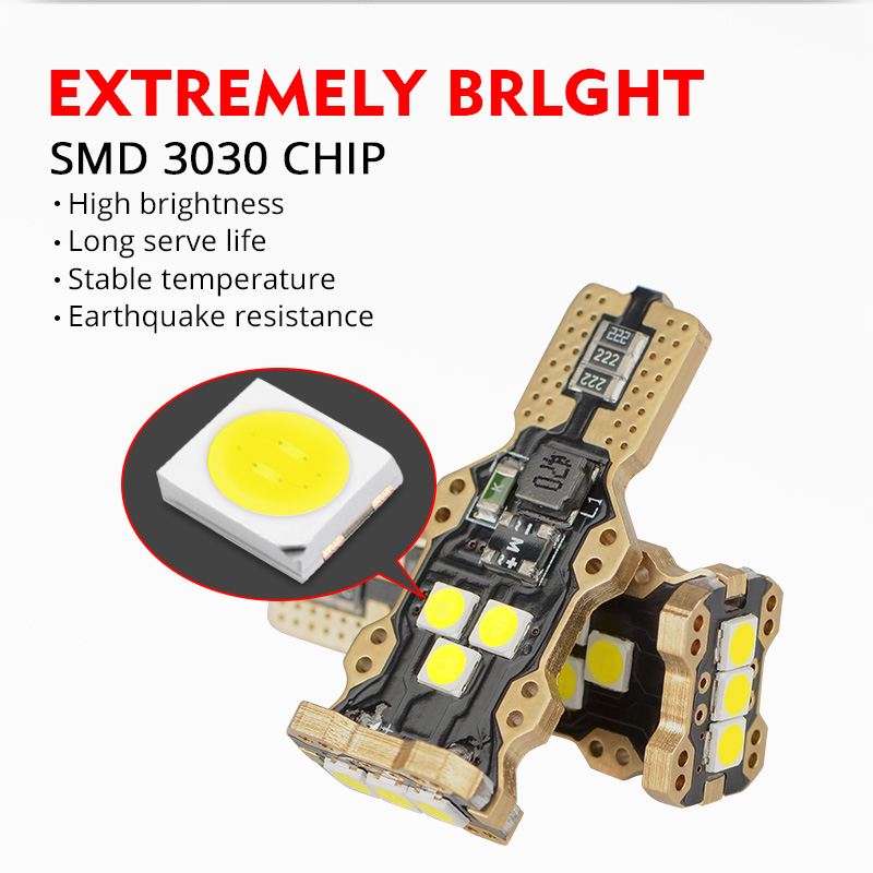 NAO led auto W16W LED T15 passast tail light