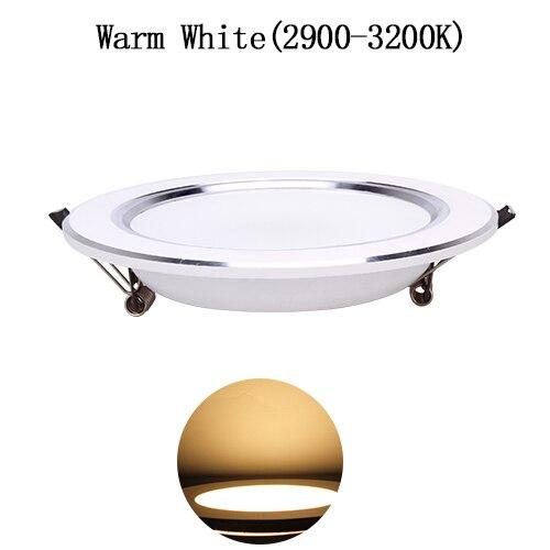 Ультра яркий круглый светодиодный вниз светильник, 3 Вт, 5 Вт, 7 Вт, 9 Вт, 12 Вт, 15 Вт, 18 Вт, Алюминий AC110V 220V светодиодный вниз светильник потолочное утопленное пятно светильник - Emitting Color: Warm White