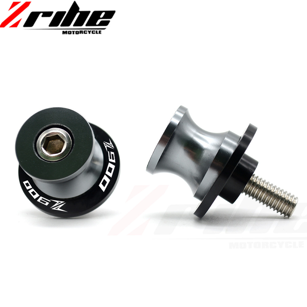 2pcs M8 X1.5 Motorcycle Swing arm Sliders Spools CNC Swing Arm Stand Screw for Ducati Triumph Z900 Z800 ZX 10R//6R S1000RR CBR1000RR//250R//600RR//900RR GSXR B-KING1300 DL1000 TL1000RS GSR GSX Gray