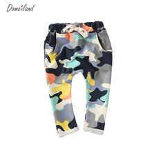 Fashion Children's domeiland Clothing 2017 Kids Boy girls Camouflage Long PP Harem Pants Cool Boy Sport Camo Cargo Trousers