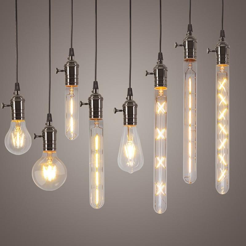 Newest Pendant Lights Edison LED Light Bulbs 4W 6W 8W Lamp Bulbs E27 220V Pendant Home Lighting Ultra Bright LED Filament Bulbs