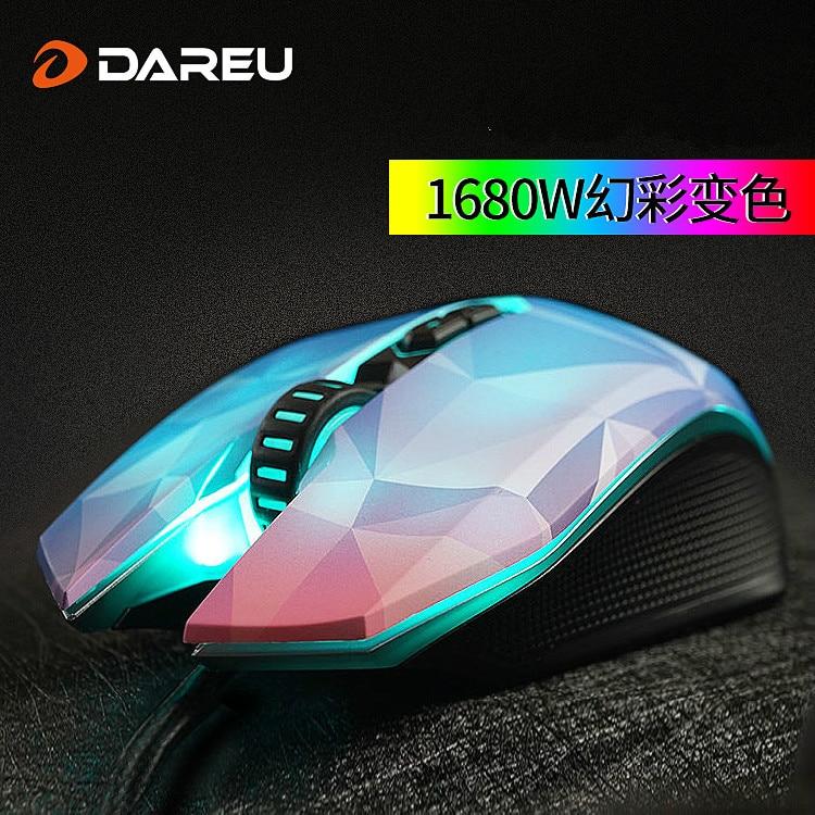 Nuovo Arrivo DAREU EM925pro USB Optical Gaming Mouse 10800 DPI 7 Pulsanti Computer PC Gamer Magic Mouse Con led Respirazione luci - 3