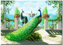 5D Diamond Mosaic Kits Diy diamond painting Cross Stitch Full Embroidery Needlework Garden peacock