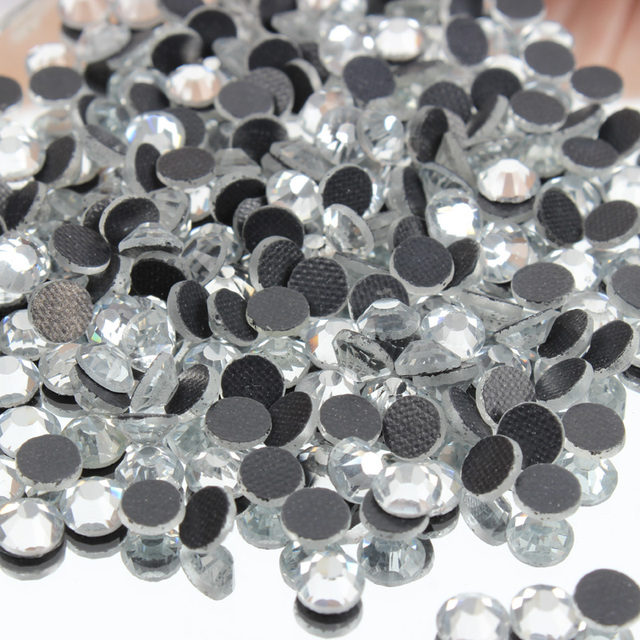 Wholesale and Retail DMC 8 size Crystal Clear Hotfix Rhinestone Glass Crystals  Stones Hot Fix Iron 6739821f5859