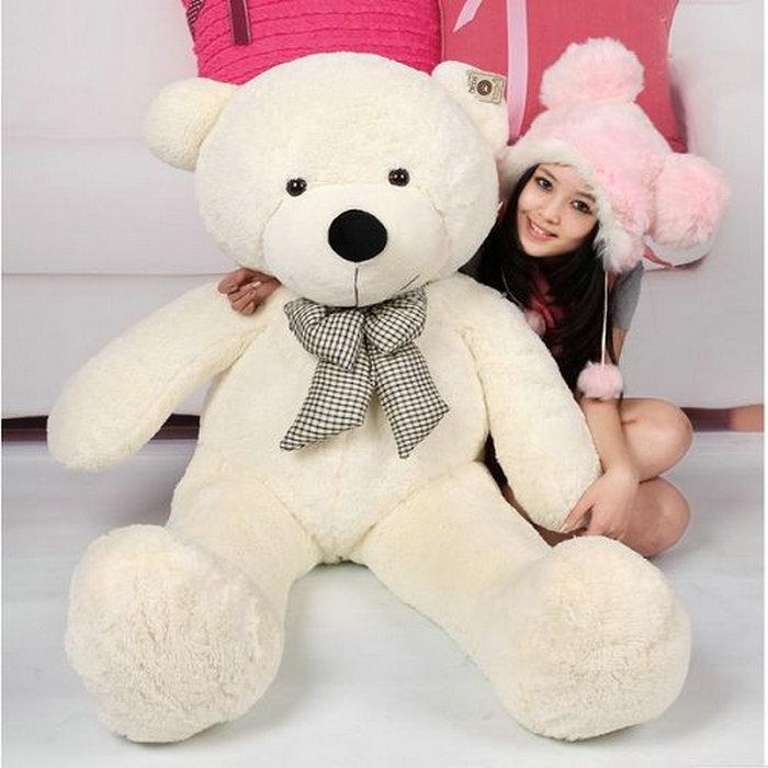 ФОТО 100CM Giant Teddy Bear Giant Plush Stuffed Toys Doll /Lovers/Valentines Gifts Birthday Gift