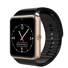2016 New Arrival Smart Watch GT08 Clock Sync Notifier Support SIM TF Card Connectivity Apple iphone Android Phone Smartwatch