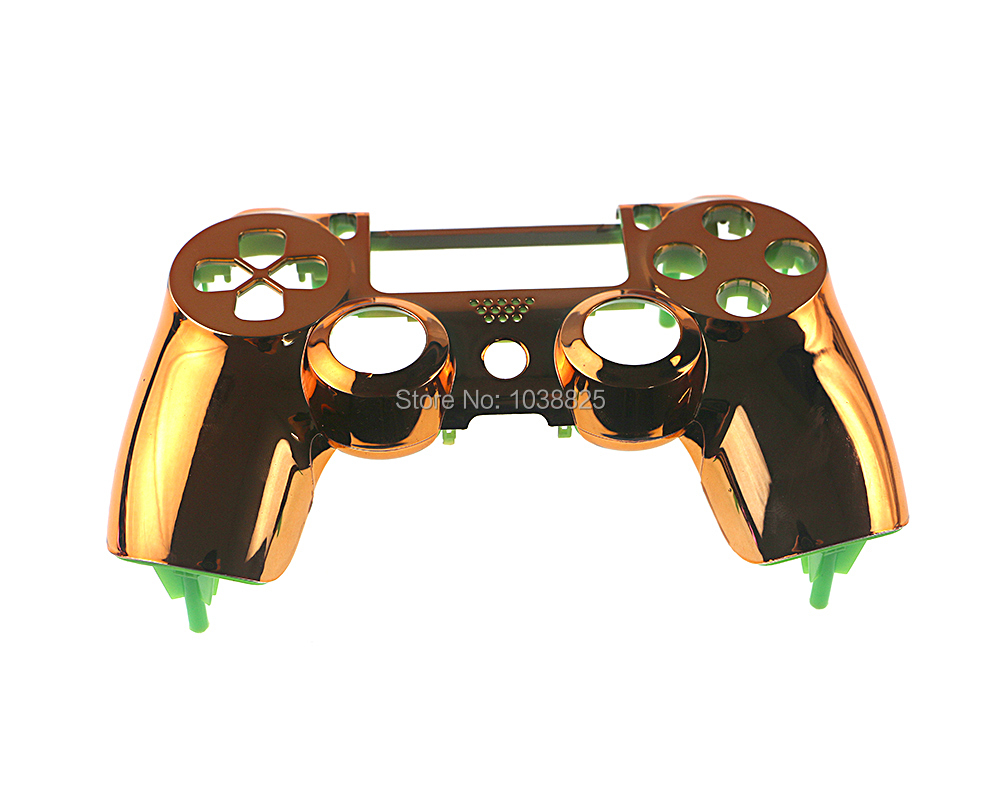 20pcs Chrome Plating Front Up Top Housing Shell Case Custom Modded  Controller Gamepad Joystick Handle Hand Shank Grip for PS4