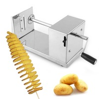 Spiral Potato Twister Tornado Cutter Slicer French Fry Vegetable Cutter Kitchen Cooking Tools Handmade Twisted Potato Slicer