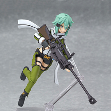 2016 NEW Arrival PVC Figma 241 Shino Asada Phantom Bullet Action Figure Anime Sword Art Online 2 Model Toy Gift 0041