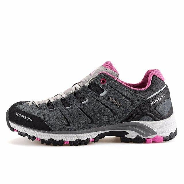 29cc91dfcf385 HUMTTO de las mujeres de moda de cuero al aire libre senderismo zapatos de  zapatillas de