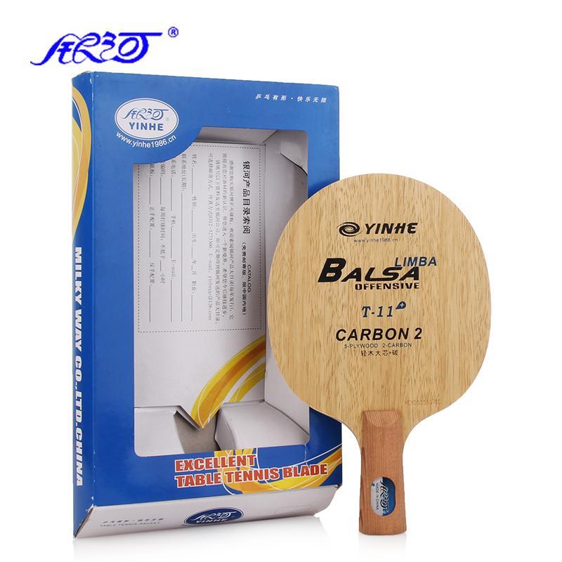 Prix pour Galaxy YINHE T-11 5 + 2 Carbone Tennis De Table Lame T11 Raquette Ping Pong Bat