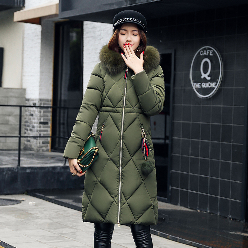 Fitaylor Women Winter Thick Jackets 2017 Fur Collar Long Cotton Padded Coat Female Hooded Warm Outerwear Overcoat  Parka Jacket phoenix 11037 b777 300er f oreu 1 400 aviation ostrava commercial jetliners plane model hobby