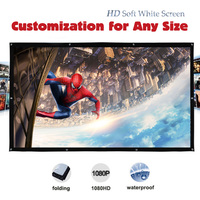 Yovanxer High Brightness DH Projector Screen Portable Projection Screens Customization For Any Size Fast Free Shipping