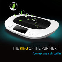 AS 1 Air Purifier Anion Air Purification Machine Solar /Battery Air Cleaner Air quality detection For Car and House