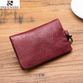 Men Cowhid Genuine Leather Car Keys Holder Wallets Housekeeper Organizer Keychain Zipper Case Bag Pouch Purse Small Wallet